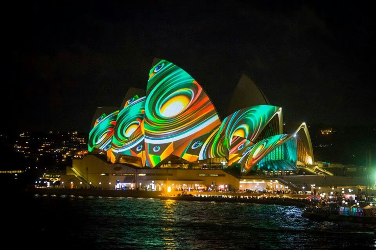 Projection Mapping At Sydney Opera House Projection