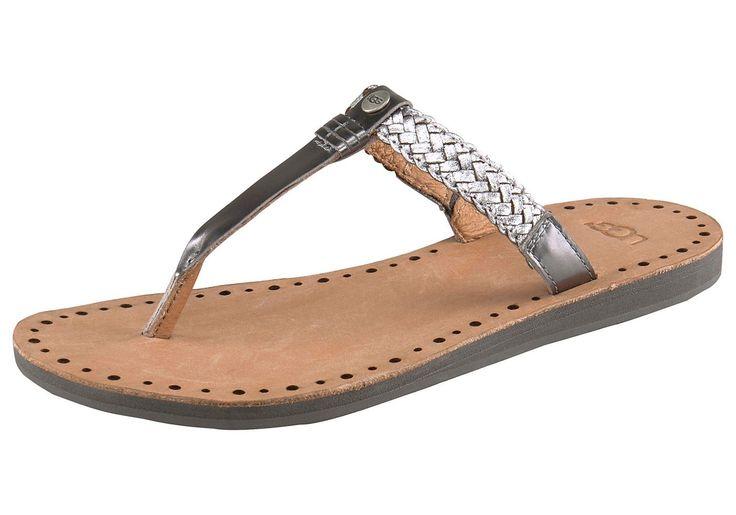 Produkttyp , Sandale, |Schuhhöhe , Sandale, |Materialzusammensetzung , Obermaterial: 100% Leder. Decksohle: 100% Leder. Laufsohle: 100% Gummi, |Farbe , Silberfarben, |Obermaterial , Leder, |Verschlussart , Zehensteg, |Laufsohle , Gummi, | ...