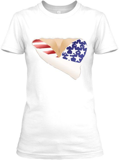 3 D Funny  White Women's T-Shirt Front