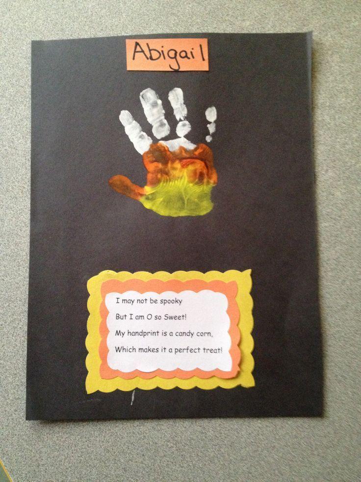 ... Fall Art, Handprint Crafts, Easy Crafts, Preschool Halloween, Kids