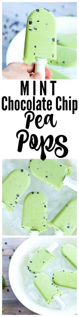 The secret ingredient in these Mint Chocolate Chip Pea Pops is frozen peas! Such a great way to add fiber, protein, and tons of nutrients to this healthy dessert idea! Vegan and gluten free recipe special treat.