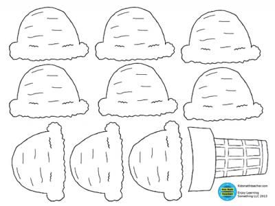 Ice cream cone with scoops from KidsMathTeacher on