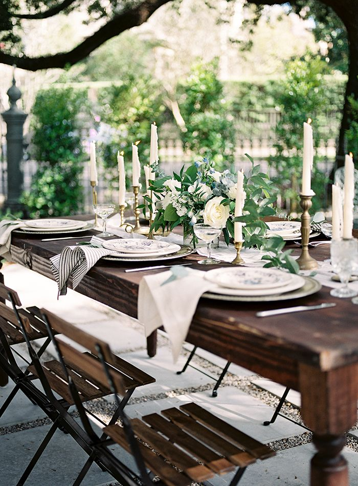New Orleans Wedding Style In Dreamy Blues And Greens New Orleans Wedding Sully Mansion Organic Wedding Decor