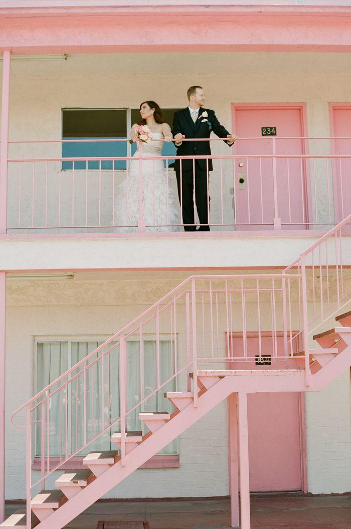 pink motel | las vegas vintage downtown wedding gaby j photography