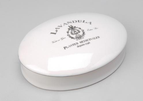 Шкатулка BOITE CERAMIQUE OVALE LAVANDUL Керамика | Интернет магазин товаров для дома Санкт-Петербург