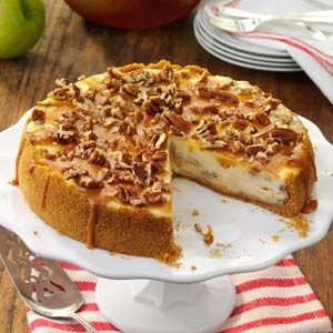 Caramel Apple Cheesecake Recipe from Taste of Home -- shared by Lisa Morman of Minot, North Dakota