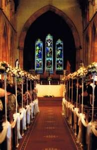 Wedding Ceremony and Church Flowers