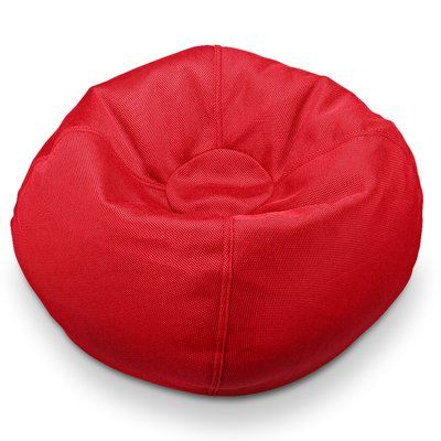 Ace Casual Furniture Classic Bean Bag Chair Upholstery: Cherry Red