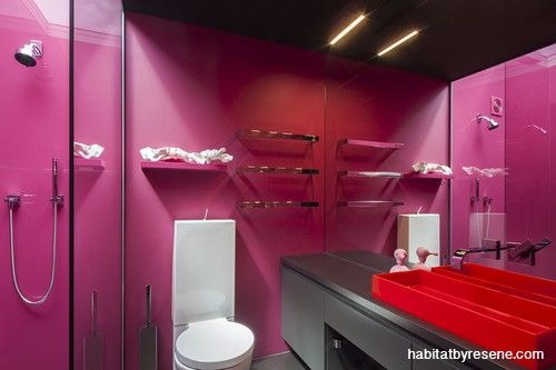The ultimate pink bathroom.