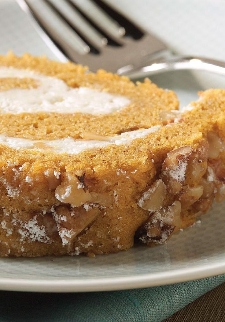 Roll — With moist, sweet spiced pumpkin cake wrapped around a creamy ...