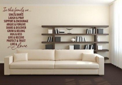 Living room and wall stickers