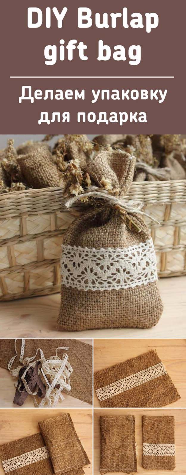 25 best ideas about burlap gift bags on pinterest Burlap bag decorating ideas