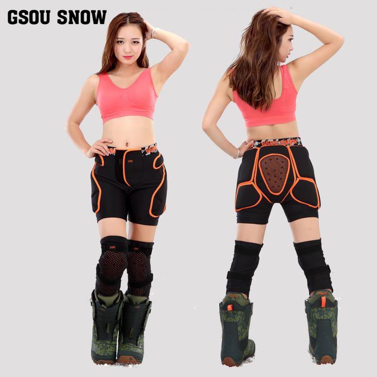 El nuevo traje de esquí Gsou nieve snowboard pantalones del pañal pantalones de hockey para adultos rodilla esquí de engranajes