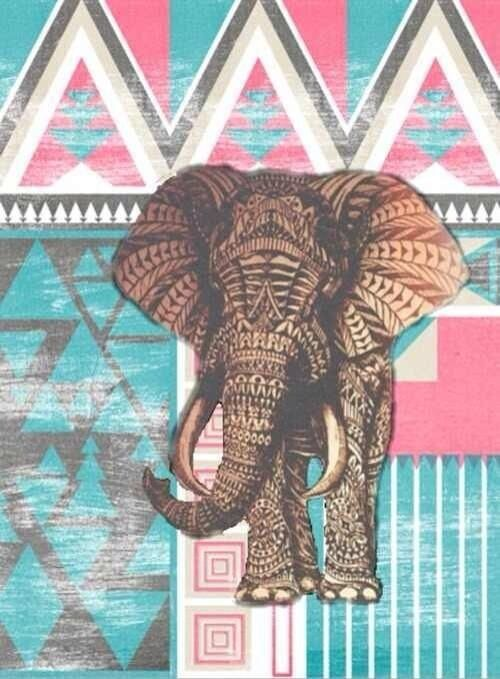 Aztec elephant background wallpapers patterns - Elephant background iphone ...
