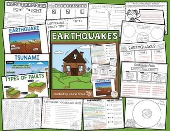 Earthquakes are natural disasters that are important for students to learn about. Students will research and learn about earthquakes by using graphic organizers, reading and using text evidence, learning new vocabulary, and writing important information and safety tips.