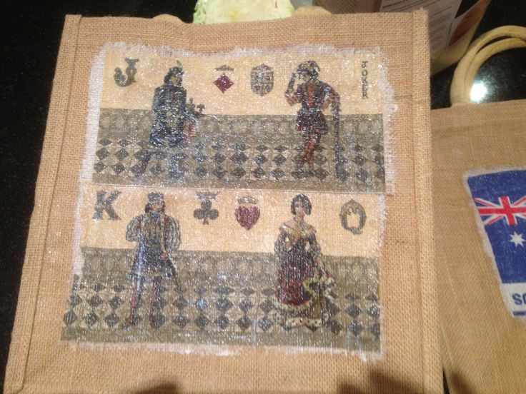 Hessian shopping bag - The Royals