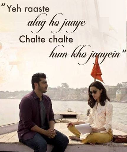 The beautiful lyrics of #PhirBhiTumkoChaahunga penned by Manoj Muntashir and sung by Arijit Singh & Shashaa Tirupati.   The upcoming Half Girlfriend Movie is based on the novel of Chetan Bhagat.  #HalfGirlfriend.