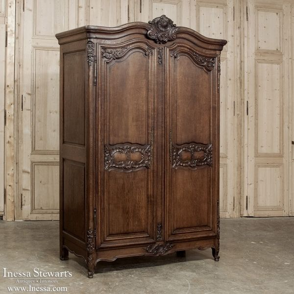 Antique Furniture | Country French Armoires | Country French Regence Armoire  | www.inessa.com