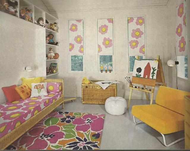 339 best retro bedrooms images on pinterest vintage for Garden design 1970s