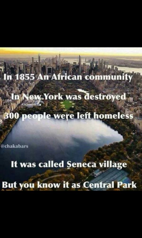 This isn't the only place where this happened. Many states share this history of destruction of black communities =families