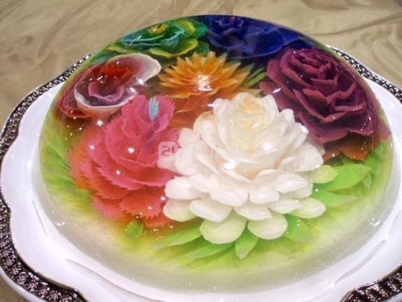 Gelatin flowers sweet cakes glamour flower d