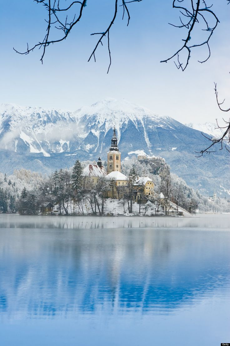 Bled Island in the winter