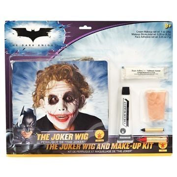 Halloween DC Comics The Dark Knight Rises Deluxe Joker Wig & Make-Up Kit