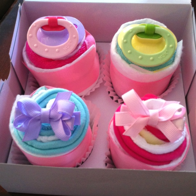 diaper cupcakes.