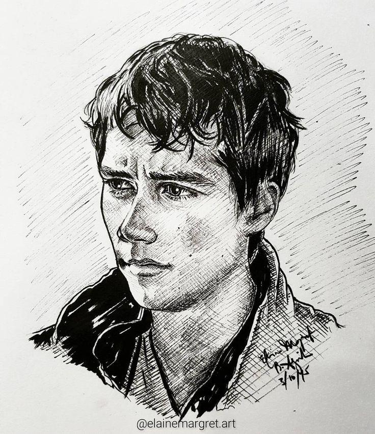 "Thomas Nachlik Illustration: #Inktober 3 Dylan O'Brien As ""Thomas"" From The Maze Runner"