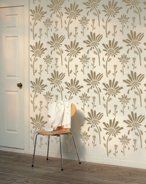 Decorative Scandinavian Wall Stencil for DIY project, Decorative Wallpaper look and easy Home Decor. Scandinavian design means quality by all means.