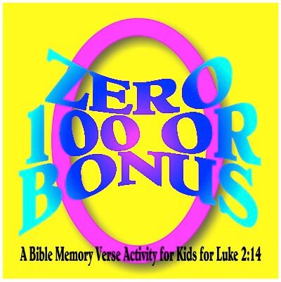 A Bible memory verse activity is a great way to teach God's amazing Word and here's a Bible game based on Luke 2:14.