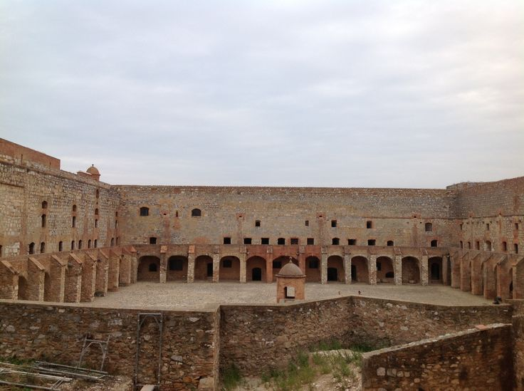 175. The Main Courtyard of the Fortress of Salses in Salses-le-Château