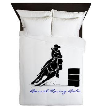 Barrel Racing Babe Queen Duvet