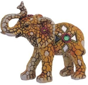 Artistic Mosaic Elephant Collection Figurine Decoration Collectible