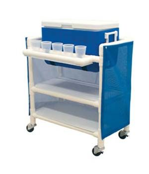 What a great cooler cart on wheels -- made out of PVC pipe! Maybe even having bigger wheels?