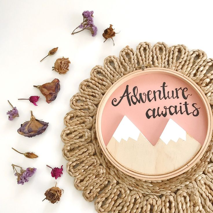 A new woodland mountain hoop art is available in the shop - check it out!