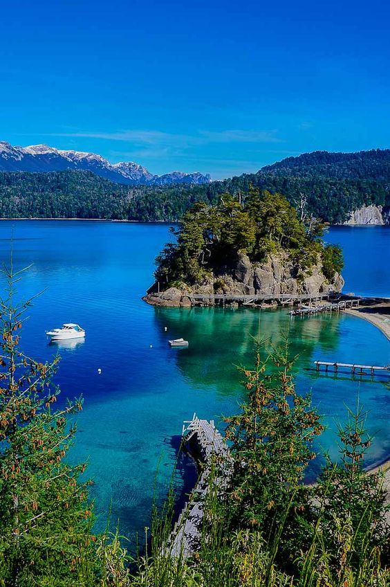 View of the 7 Lakes Circuit in Bariloche, Argentina. For more things to do, check: http://nomadbiba.com/argentina-bariloche/