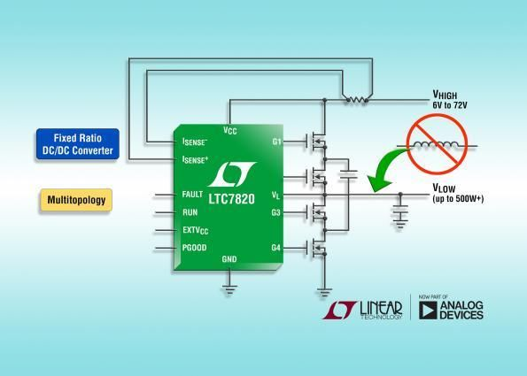 Linear Applies Switched Capacitor Step Down Topology For Inductor Less Dc Dc Analog Devices Inductors Technology
