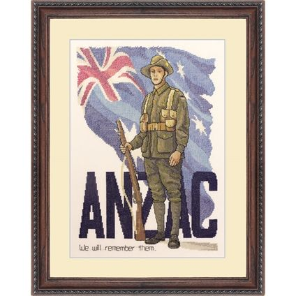 ANZAC Digger #crossstitch #foxcollection