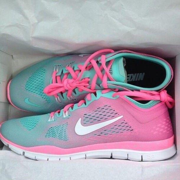 Aqua Colored Nike Running Shoes