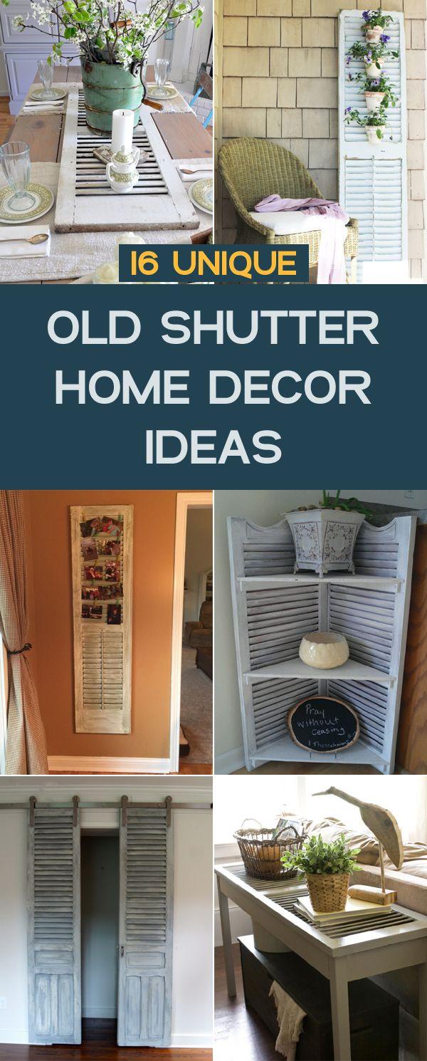 Great 16 Unique Old Shutter Home Decor Ideas