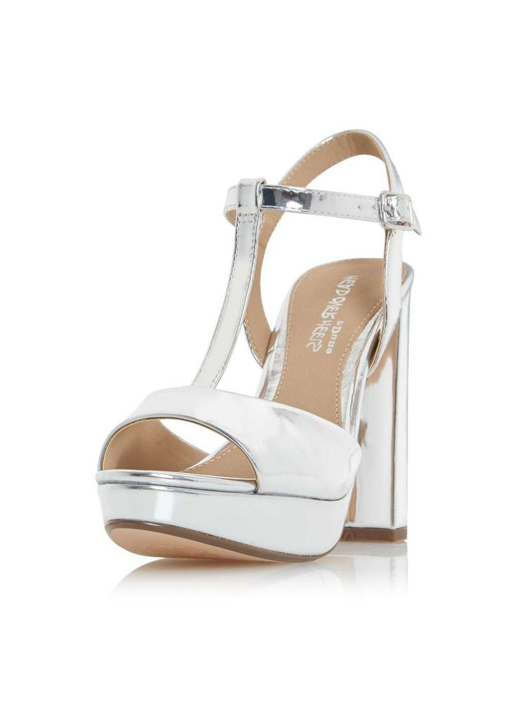 *Head Over Heels by Dune Silver 'Missy' High Heel Sandals