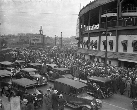 1945 World Series wrigley field....prior to Spring Opener switched to Cubbies....A BIG BIG move on my part as lived on South side...DAD and whole neighborhood die hard  Sox fans !!!!!!