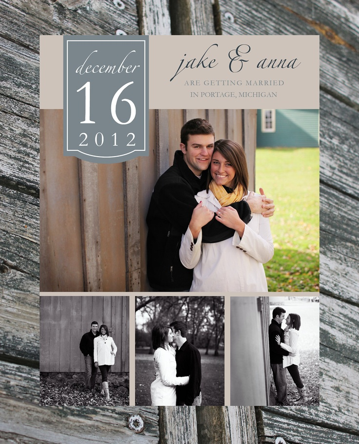 Save The Date Wedding Invitation, Printable. $15.00, via Etsy.