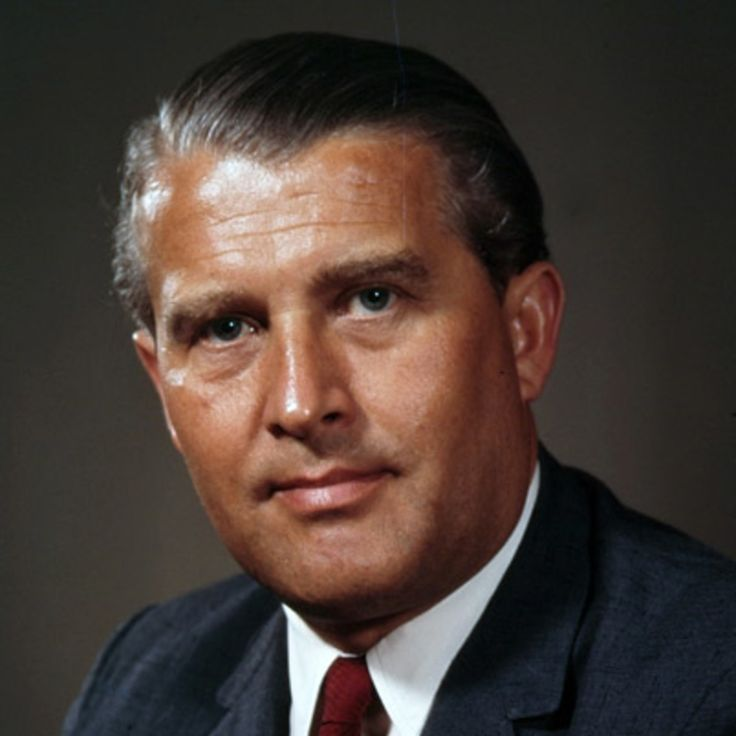 Wernher von Braun was a German engineer who worked on rocket technology, first for Germany and then for the United States.