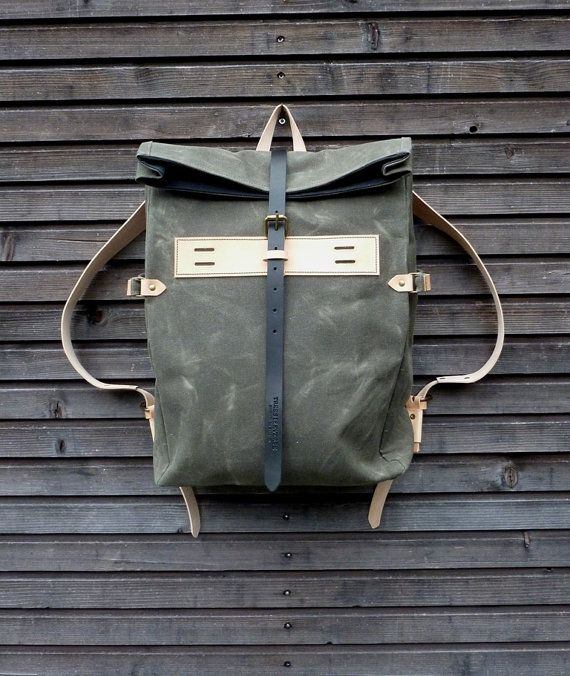 A sturdy waxed-canvas backpack will last you for the long haul. #etsy