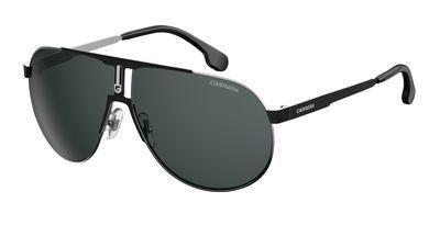 Carrera Men's Ca1005s Aviator Sunglasses, Ruthenium Black Matte Black/Gray Blue, 66 mm