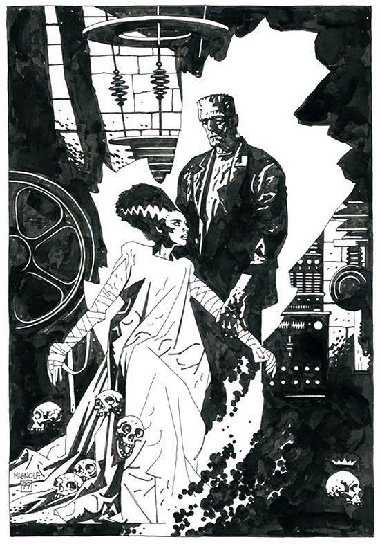 Frankenstein and his Bride by Mike Mignola