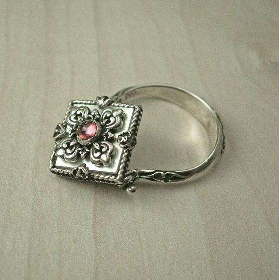 Vintage sterling silver ringAntique ringHandmade ringBoho