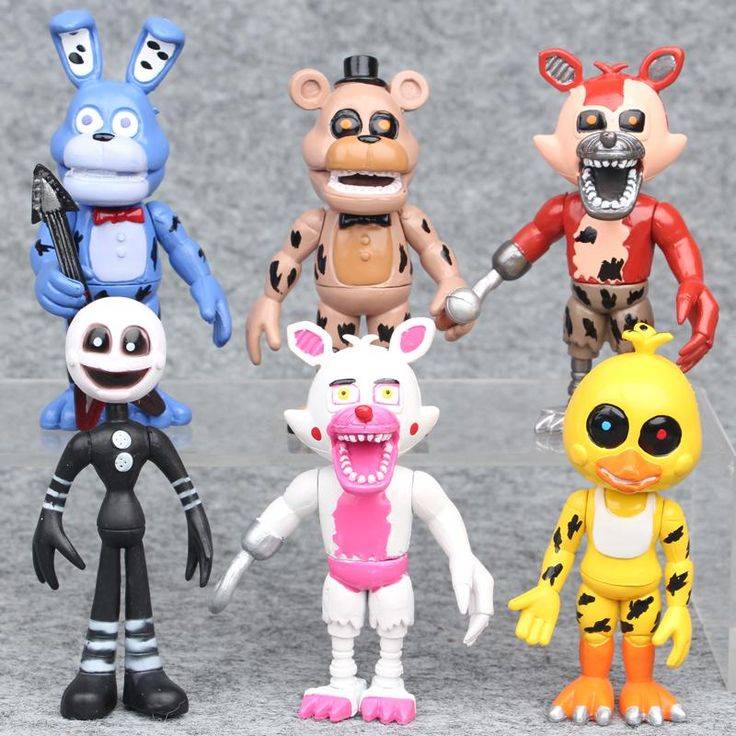 6Pcs/ lot Five Nights At Freddy's Fnaf Bonnie Foxy Chica Freddy Action Figure